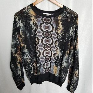 CAbi Python Print sheer top Size M Style#572
